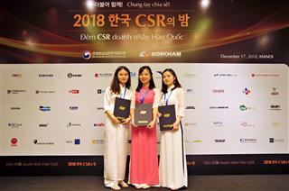 Ba (03) sinh viên nhà trường nhận học bổng của hiệp hội doanh nghiệp Hàn Quốc tại Việt Nam năm 2018