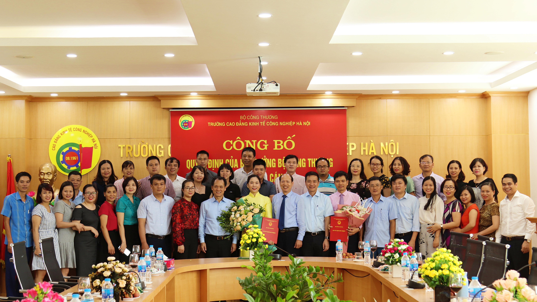 Công bố các Quyết định bổ nhiệm Phó Hiệu trưởng Trường Cao đẳng Kinh tế Công nghiệp Hà Nội