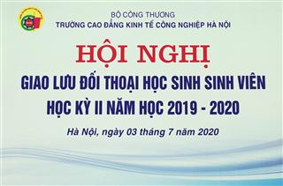 Hội nghị giao lưu đối thoại học kỳ II năm học 2019 - 2020