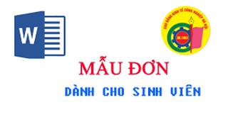 Mẫu đơn dành cho sinh viên