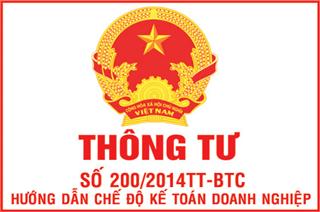 Thông tư 200/2014/TT/BTC_ Hướng dẫn chế độ Kế toán doanh nghiệp