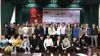 Hội thảo tư vấn sinh viên trường Cao đẳng Kinh tế Công nghiệp Hà Nội tham gia chương trình du học chuyển đổi và thực tập tại Hàn Quốc