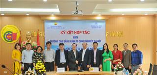 Chương trình ký kết hợp tác giữa Trường Cao đẳng Kinh tế Công nghiệp Hà Nội và Trường Cao đẳng Cơ điện Hà Nội