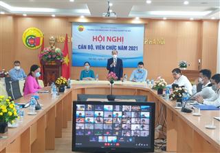 Trường Cao đẳng Kinh tế Công nghiệp Hà Nội Tổ chức thành công Hội nghị cán bộ viên chức Năm 2021